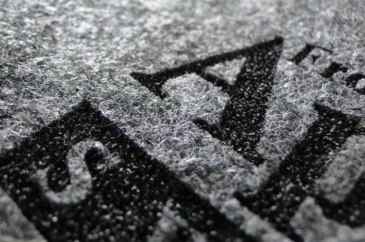 Logo gelasert