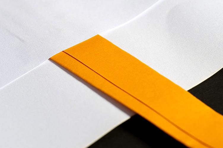 Flachhenkel eingeklebt bei Papiertüten