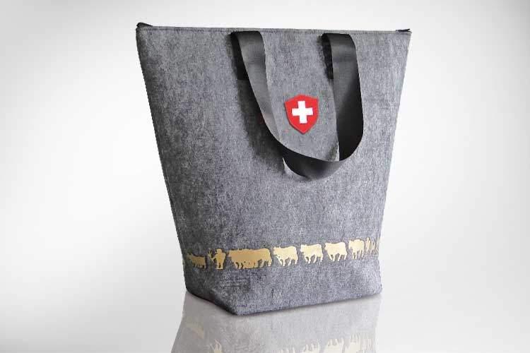 edle Einkaufstasche aus Filz