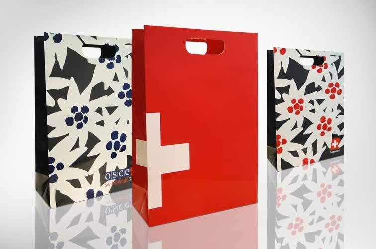 Grifflochpapiertaschen mit verstärktem Rand