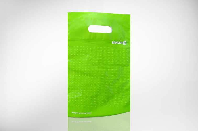Kunststofftragetaasche mit verstärktem Rand