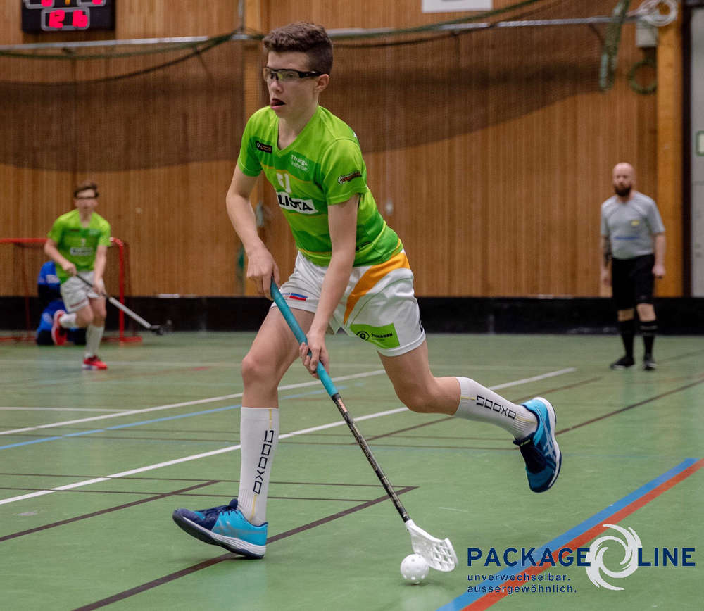 Florin Fehr beim Floorball Thurgau.