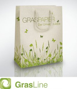 GrasLine, die nachhaltige Papiertragetasche aus Gras.
